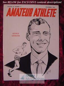 AMATEUR ATHLETE AAU Magazine November 1965 GEORGE GERMANN Track & Field