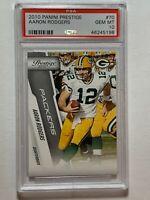 2010 PANINI PRESTIGE #70 Card AARON RODGERS Green Bay Packers - PSA GEM MINT 10