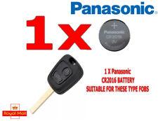 1 X PANASONIC BATTERY FOR CITROEN BERLNIGO XSARA PICASSO REMOTE KEY FOB CR2016