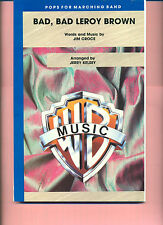 """JIM CROCE'S """"BAD BAD LEROY BROWN"""" MARCHING BAND SCORE MUSIC BOOK NEW ON SALE!!"""