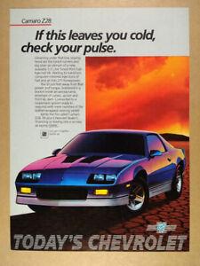 1985 Chevrolet Camaro Z28 vintage print Ad