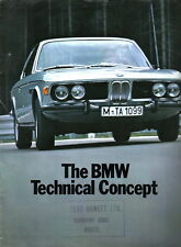 BMW 2000 Touring 2500 3.0 Si CS Technical Concept 1971-72 Original UK Brochure