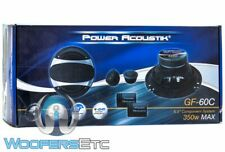 "POWER ACOUSTIK GF-60C 6.5"" 350W COMPONENT SPEAKERS SWIVEL TWEETERS CROSSOVERS"