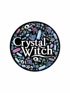 Badge Crystal Witch Black 3.1x3.1cm witchy badges pins gifts wicca pagan