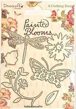 DOVECRAFT STEEL CUTTING DIES BUTTERFLIES & FLOWERS  PAINTED BLOOMS  POSTAGE DEAL