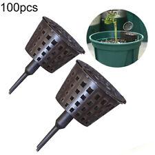 100*Fertilizer Lid Basket Bonsai Plant Tool Garden Nursery Auto Fertilizer Boxes
