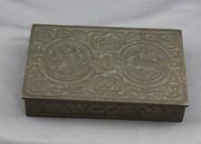 TIFFANY STUDIOS Arts Crafts Bronze Zodiac Desk Set  Box