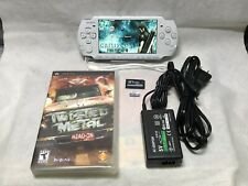 Sony PSP 3000 System White & one UMD game & Memory Card Bundle.