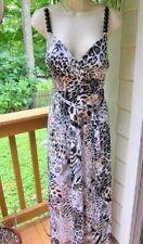 Maxi dress size M  milano Animal print  padded bra~Spagetti straps with beads