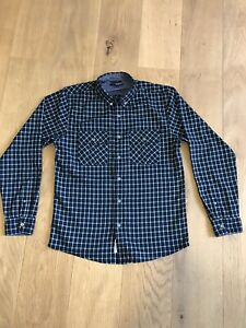 The Quiet Life Blue Flannel Checked M Shirt Skate/Hipster