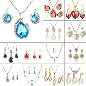 Women's Fashion Choker Chain Crystal Rhinestone Pendant Necklace Jewelry Gift