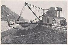 D2097 Un escavatore presso l'impianto Piave-Santa Croce - Stampa - 1923 print