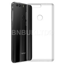 Clear Silicone Gel Case & Screen Guard For Huawei Honor 8