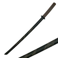 "2Pc 39"" Black Hardwood Martial Arts Training Chinese Sword Swords #1807D"