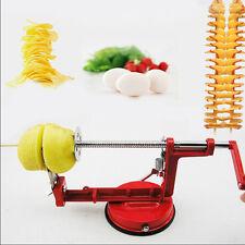 Tornado Spiral Potato Chips Twister Steel Slicer Cutter Red Color Kitchen Tool