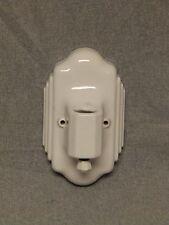 Vintage Ceramic White Porcelain Wall Sconce Old Art Deco Light Fixture 850-16