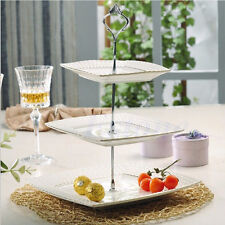 Silver Cupcake Stand Stainless Steel Wedding Birthday Cake Display Tower 3 Tier