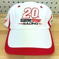 Game Stop Racing Joey Logano #20 Joe Gibbs NASCAR White Mesh Back Strap Back Hat