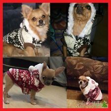 Cozy Winter Snowflake Hoodie Jacket for Small Dogs Size *Small* Color *Red*