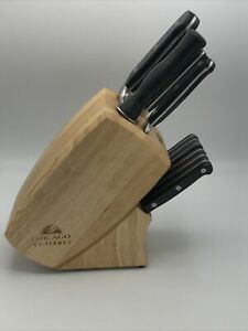 Chicago Cutlery 11 Piece Knife Block Set 9 Knives & Sharpener W/ Block Chef Pare