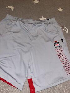 Nike Dri Fit Ohio State Buckeyes On Field Apparel Gray Football Shorts Sz XL
