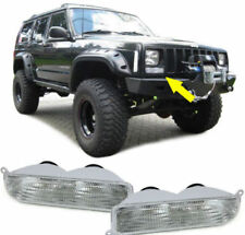 White crystal finish front indicator turn lights for Jeep Cherokee XJ 97-01