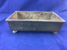Antique Cast Iron Doban Dish For Bonsai Suiseki Viewing Stone