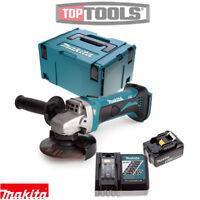 Makita DGA452Z 18v 115mm Angle Grinder + 1 x 5Ah Battery, Charger, Case & Inlay