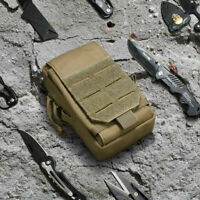 Tactical Molle Pouch Utility EDC Cell phone Pouch Belt Waist Bag for Backpack