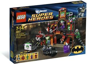 New Sealed LEGO Super Heroes: Dynamic Duo Funhouse Escape Set 6857 Discontinued