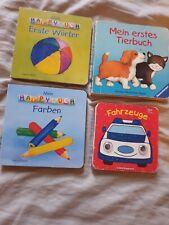 4 Kinderbücher Kleinkind ca 12-20 Monate Tiere Farben Fahrzeuge