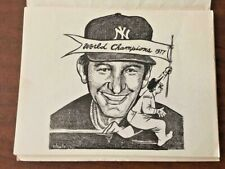 BILLY MARTIN- BILL GALLO ARTWORK! 11 SKETCHES FROM THE NY DAILY NEWS CIRCA 1976