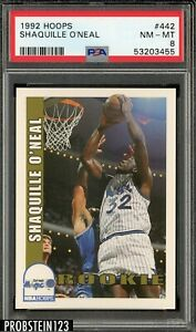 1992 Hoops Shaquille O'Neal Rookie #442 PSA 8 NM-Mint