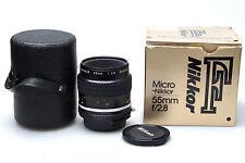 Nikon Micro-Nikkor 55 mm F/2.8 AI-S Objektiv