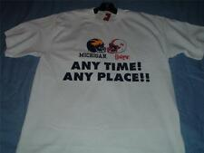 Huskers vs Michigan Any Time Any Place T-Shirt Adult Med White NWT