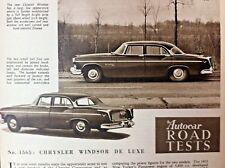 CHRYSLER WINDSOR de LUXE -1955 - Road Test removed from The Autocar