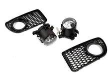 Front Fog Light Kit With Grill Insert For VW Golf MK4 R32 4 Motion V6 New