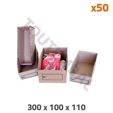 Bac à bec carton 300 x 100 x 110 mm (par 50)