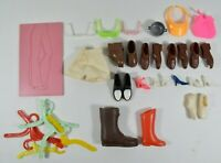 LOT of Vintage Doll Shoes Clothes & Accessories SOME BARBIE