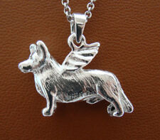 Sterling Silver Cardigan Welsh Corgi Angel Pendant