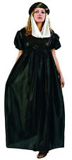 Renaissance Maiden Black Satin Costume Dress Standard Size