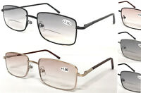 SL15 Classic Unisex Bifocal Tinted Lens Reading Sunglasses/Spring Hinges/5 Color