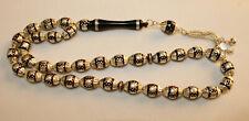 Prayer Beads Islamic Rosary Kuka Inliad Silver 33 Tasbih Masbaha #3 سبحة كوك فضة