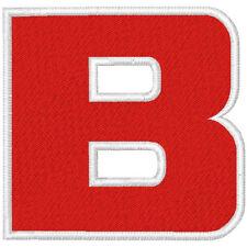 Trikot  Aufnäher Motiv 2  Buchstaben von A -Z100 %gestickt  Höhe  7 cm