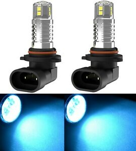 LED 80W 9005 HB3 Blue 10000K Two Bulbs Head Light High Beam Show Off Road