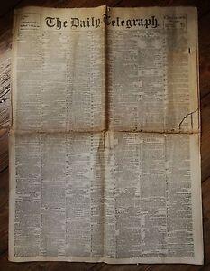 Daily Telegraph, February 22nd 1911 (Antique Complete Original Newspaper)