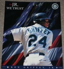 f4a841f626 1996 Costacos Seattle Mariners Ken Griffey In Jr We Trust 20x16 Poster