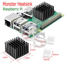 3 Pcs Set Monster Adhesive Aluminum Heatsink Cooler Cooling Kit for Raspberry Pi