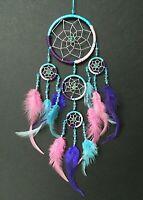 DREAM CATCHER TURQUOISE PINK PURPLE SILVER dreamcatcher 12x30cm girls gift