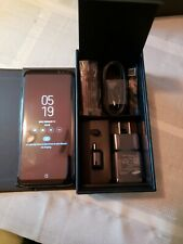 Samsung Galaxy S8 Boost Mobile Brand New. W/ Leather Wallet Case.